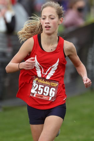 Sophomore Piper Minnich is one of the top competitors for Hartley, which is seeking its first state berth since 2007.