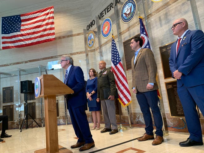 Gov. Mike DeWine and other state leaders urge Ohio veterans struggling with mental health issues to reach out for help. DeWine held the press conference as the U.S. completed its withdrawal from Afghanistan, where American service members served for 20 years.