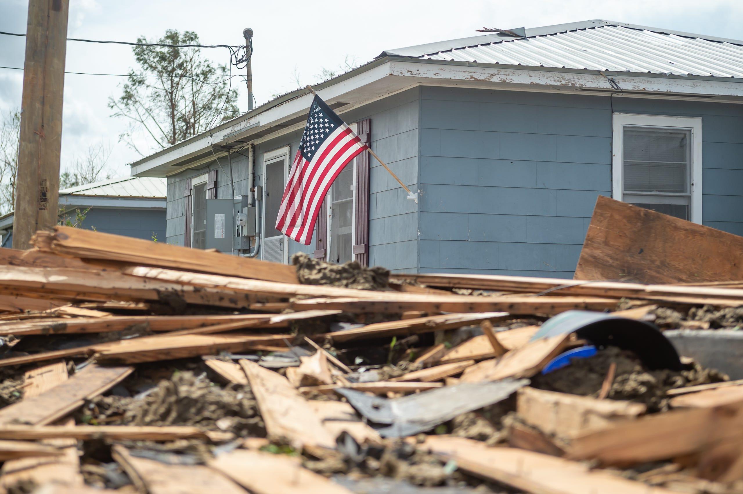 Damage caused by Hurricane Ida in Houma, LA. Monday, Aug. 30, 2021.