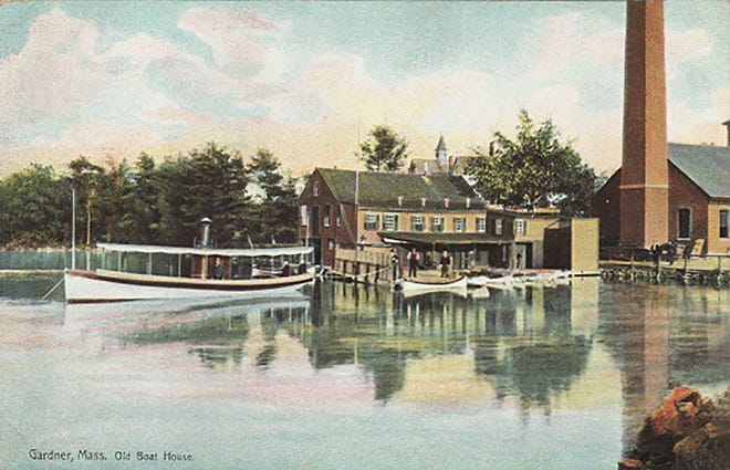 The Crystal Lake boathouse on the south shore of Crystal Lake near Park Street in Gardner.