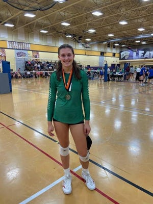 Geneseo High School senior Hannah Copeland was named to the All-Tournament Team at the recent Macomb Volleyball Tournament
