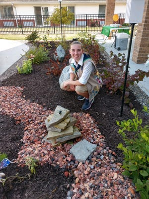 Abbigail McGee, a senior at Geneseo High School, recently finished work for her Girl Scout Gold Award, a Butterfly Garden at Liberty Village Memory Care Addition.