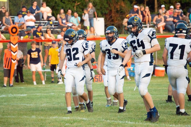 Pictured: Hornets Brock Ladd (71), Gavin Wickham (64), Peter Moore (33) and Draydon Eckleberry (92)