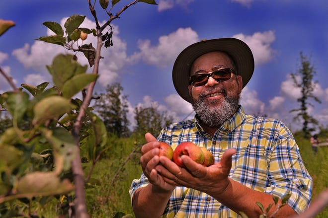 John Macomson is the owner of Fat Ass Heifer Cidery in Campobello. The cidery, on 50-plus acres in Spartanburg County, has hard apple ciders made from mountain-grown apples. He is pictured here at his business on Saturday, Aug. 28, 2021.