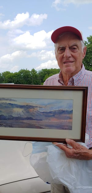 Original watercolor paintings by Irondequoit artist Dave Braun are on display at Parma Public Library, 7 West Ave., Hilton, until Sept. 30. Some paintings are inspired by trips to various states.