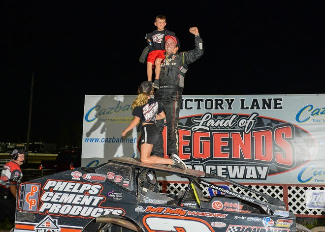 Justin Haers rallied in the finale to win his first Big-Block track title at Land of Legends Raceway.