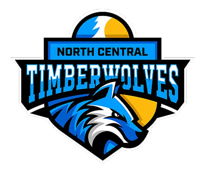 The North Central Michigan College Timberwolves, with logo pictured, recently applied for membership in the National Junior College Athletic Association, the national sports association for two-year colleges. NCMC is seeking to begin varsity competition in the fall of 2022 in women's volleyball, men's and women's basketball, men's and women's cross country, and esports.