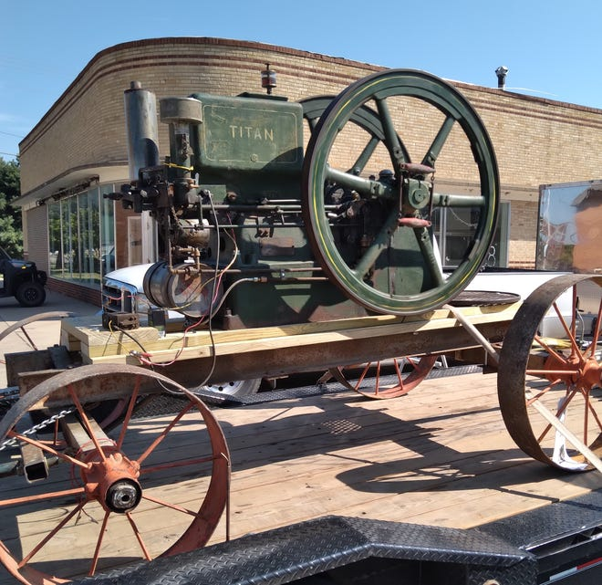 1915 Titan Harvester motor caught the attention of many at the 2021 Cruise the Square Car Show on Saturday in St. John.