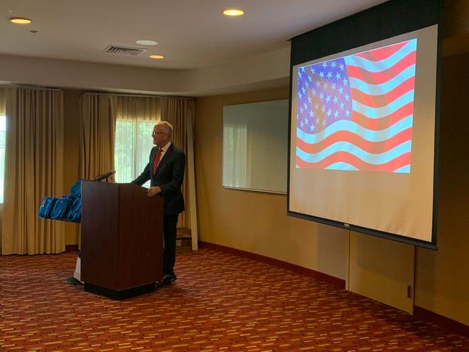 Sen. Jerry Moran speaks during the 2021 Kansas NAHRO Fall Conference.