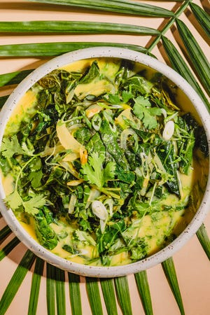 Collards stewed with coconut milk and brightened with citrus and herbs will make you rethink this classic Southern green.