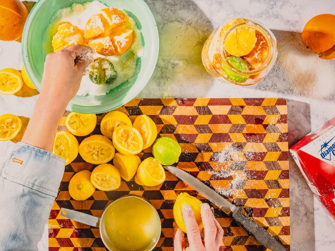 Preserving citrus takes only fruit, salt and plenty of patience.