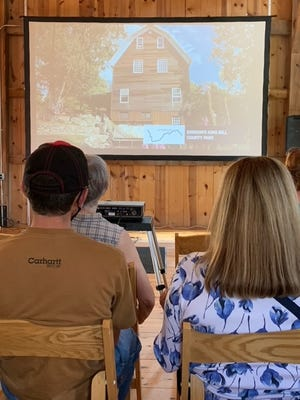 About 80 people gathered at Covered Bridge Farms County Park to watch the premiere of a PBS documentary about the St. Joseph River. Rawson's King Mill County Park was featured in the hour-long program.