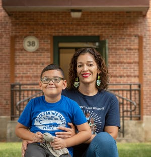 Nelly Medina lives in the Worcester Housing Authority's Lakeside Apartments with her 5-year-old son Manolo David.