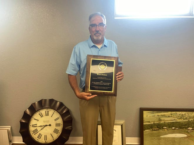 Crawford County Department of Emergency Services Director Brad Thomas has been awarded Director of the year.