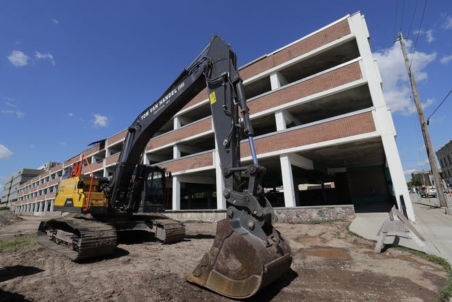 The Soldiers Square ramp in downtown Appleton is closed and will be demolished during the next six to eight weeks.