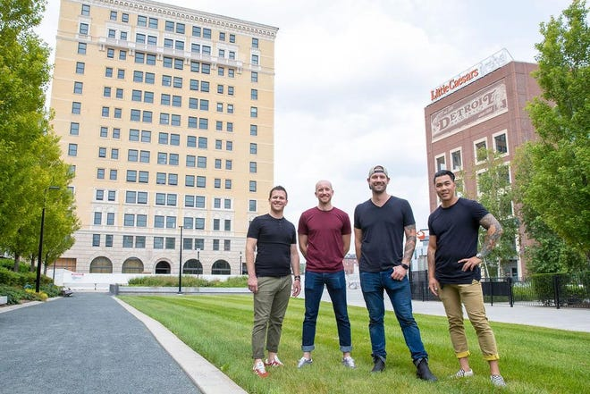 Four Man Ladder Management is John Vermiglio, left, Michael Gray, Joe Giacomino and Will Lee. Their third restaurant concept in Detroit will go in the Eddystone, an Olympia Development project.