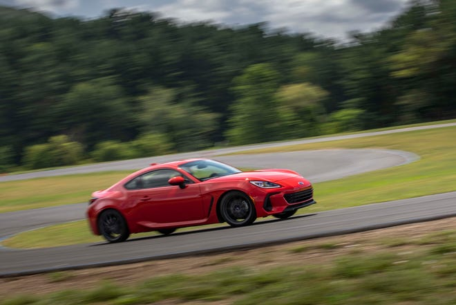 The 2022 Subaru BRZ is a autocross joy with manual transmission and athletic chassis.