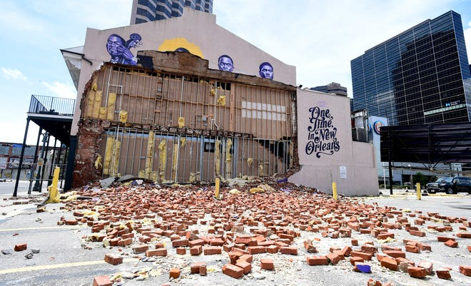 New Orleans Karnofsky store destroyed by Hurricane Ida