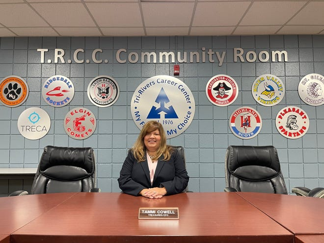 Tammi Cowell, treasurer and CFO of Tri-Rivers Career Center in Marion, brings decades of experience to the position as she first started working before and after school with Tri-Rivers as a sophomore in high school.