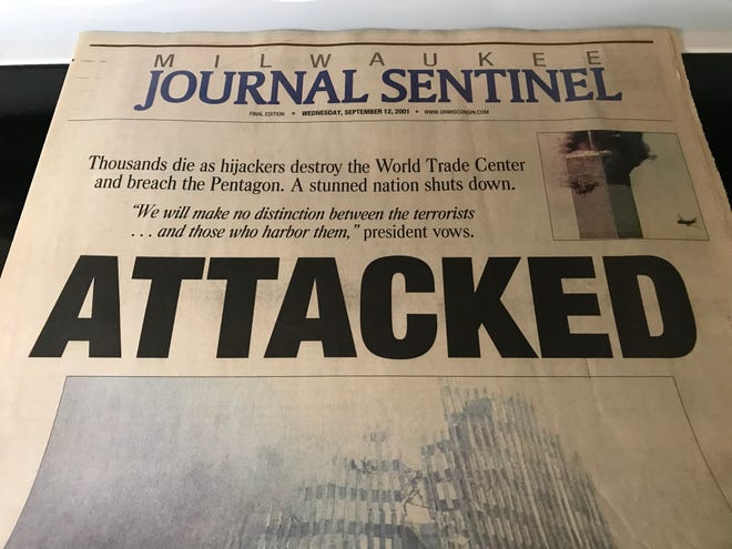 """""""Attacked,"""" proclaimed the front-page headline of the Milwaukee Journal Sentinel on Sept. 12, 2001, the day after al-Qaida, an Islamist extremist group, carried out four coordinated terrorist attacks on the United States."""