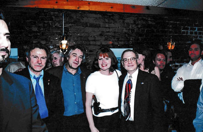 Local native Diane Matuszak was a detective with the New York Police Department during 9/11. She is pictured at a 9/11 fundraiser in mid-December 2001 in New York City with celebrities. Pictured are, from left, actor Harvey Keitel, actor Robert De Niro, Matuszak, retired police inspector Ed Mamet and actor Billy Crystal (over Mamet's shoulder).