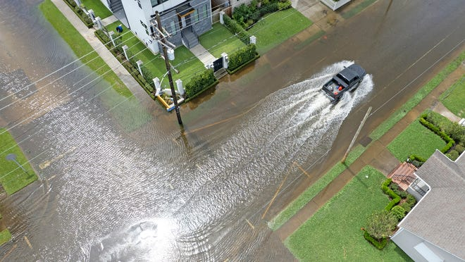 How much rain did Nashville get after the remnants of Hurricane Ida swept through?