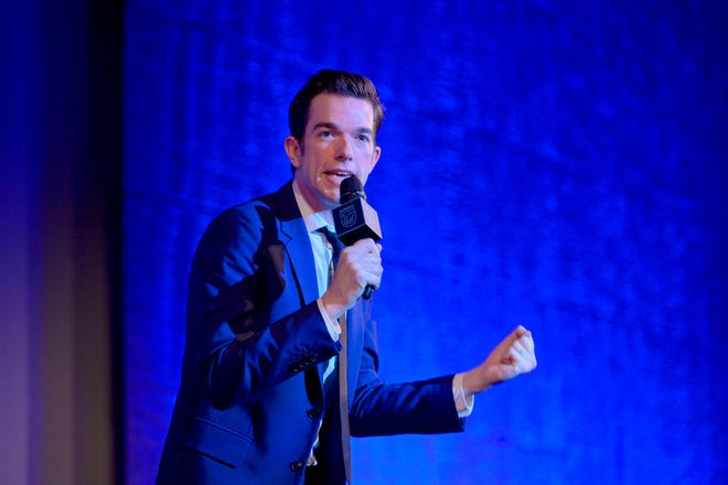 """John Mulaney performs onstage at NRDC's """"Night of Comedy"""" benefit, in partnership with Discovery, Inc. on April 30, 2019 in New York City."""