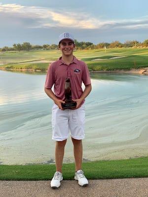 Brophy Prep sophomore Tyler Spielman set a Brophy Prep Invitational record, shooting 10-under par for 36 holes at Grayhawk in Scottsdale. Photo by Julie Palmer