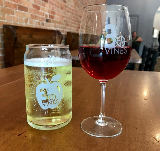 Cider and wine offered at 3 North Lexington at 5475 Main St. in Lexington on Aug. 27, 2021.