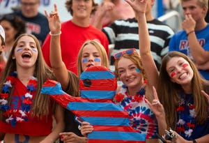 Fans during the Spanish Springs at Reno football game played on Friday night, August 27, 2021 at Reno High School.