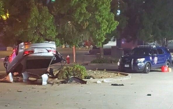 The crash that killed one student and injured four others Sunday morning involved a stolen car, Redding police said.