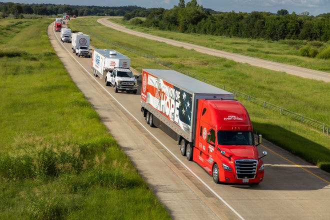 Convoy of Hope sent 19 emergency response vehicles to Louisiana Sunday as Hurricane Ida hit the New Orleans area.