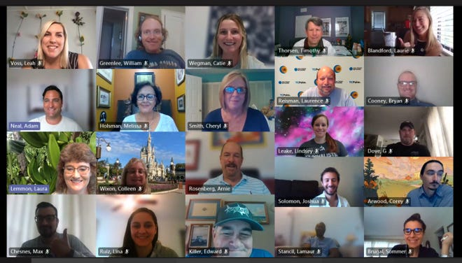 TCPalm staff during a virtual newsroom retreat in March 2021