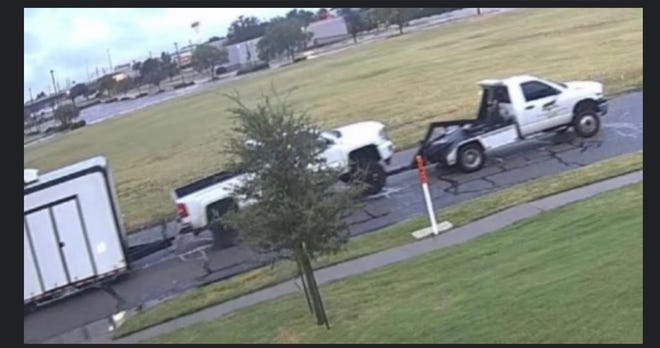 Crime Stoppers provided this photo for the Crime of the Week involving a stolen pickup and trailer.