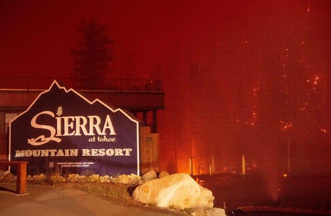 Photos of Caldor California fire near Lake Tahoe show ski resort damage