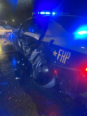 Florida Highway Patrol car hit by a Tesla supposedly on Autopilot mode