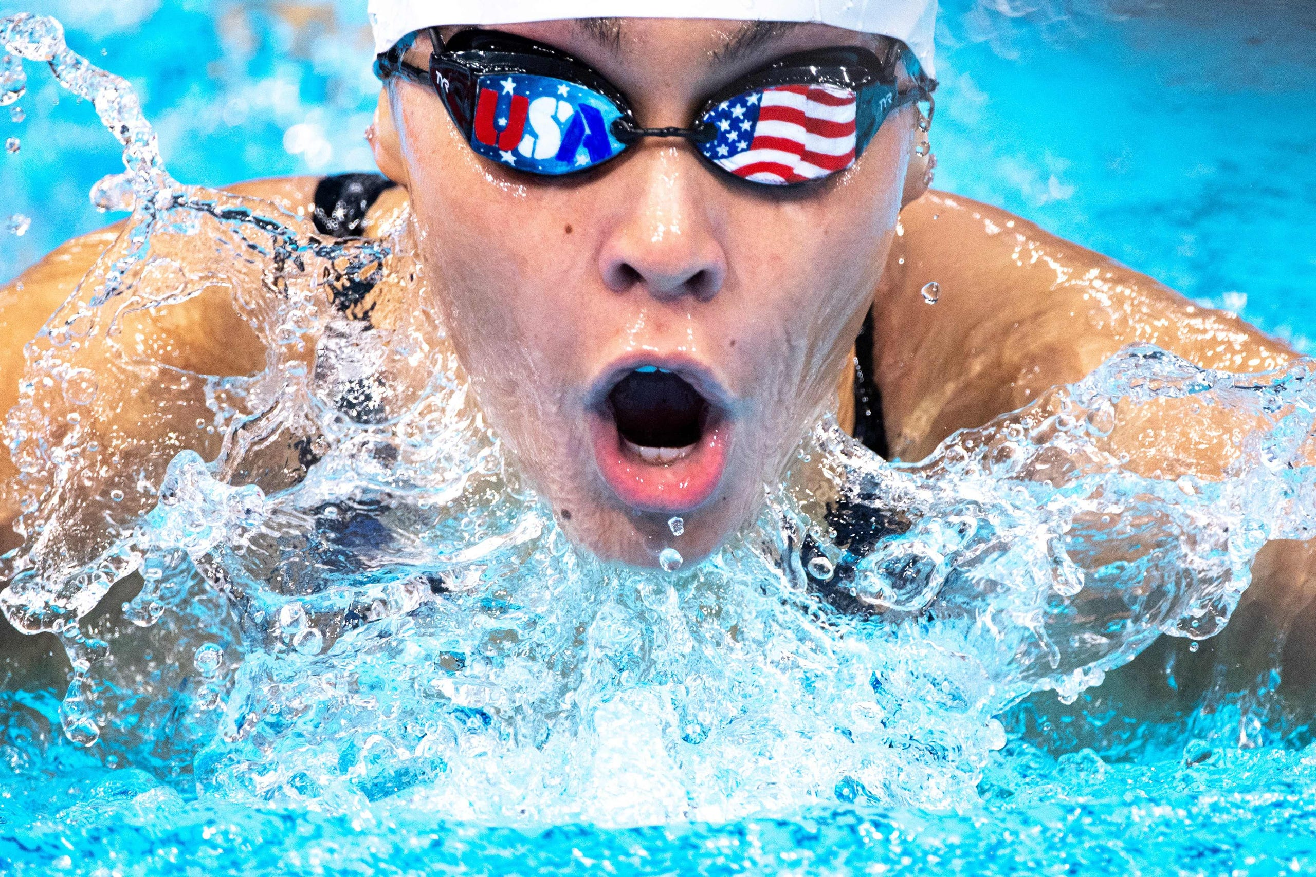 Aug. 30, 2021: USA's Anastasia Pagonis competes in the women's 200-meter medley SM11 swimming heat.