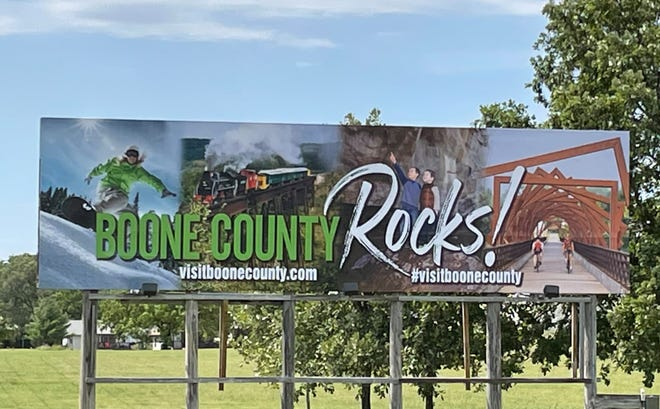 Visit Boone County's billboard has a new look. People traveling toward Boone can see the sign on Highway 30 and Story Street.