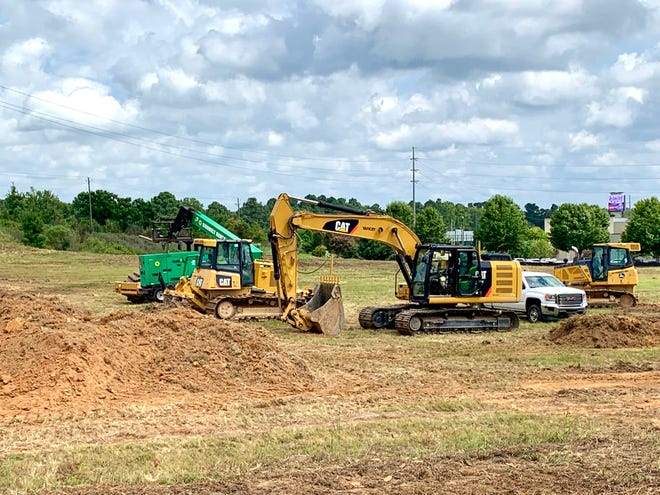 Construction workers broke ground for the first Dave & Buster's location in Augusta on Aug. 30.