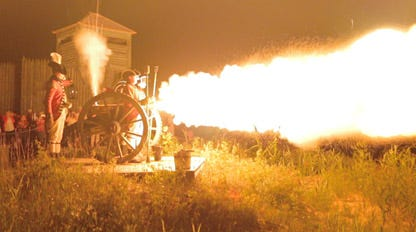 The public is invited to come see the cannon at Fort Michilimackinac fire on Sunday, Sept. 5, with the event starting at 7:30 p.m.