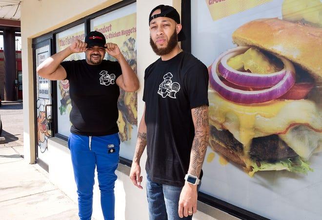 Soop (Demetrius Howard) and Randy Keyes photographed in the new FishBurger restaurant location