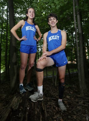 Senior twins Claire and Miller MacDonald are key leaders for the Bexley cross country program. Coach Eric Acton, who is in his 34th season guiding the Lions, said the MacDonalds have embraced the responsibility of setting the tone for their teammates.