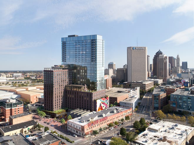 A 31-story tower is at the heart of the new design for the North Market mixed-use development.