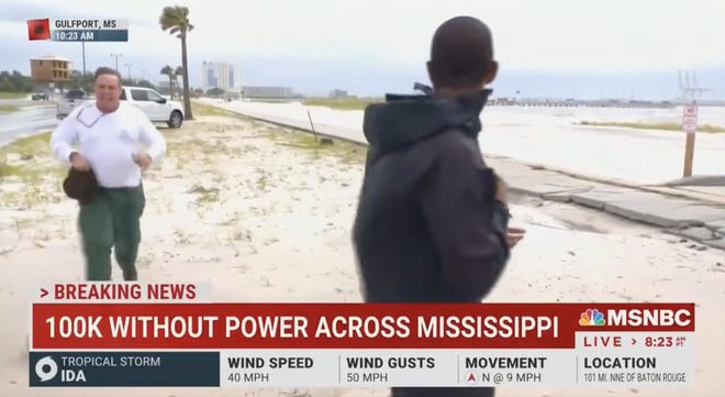 Gulfport Police Department identified the man approaching MSNBC reporter Shaquille Brewster as Wooster resident Benjamin Eugene Dagley. According to a police news release, Dagley assaulted Brewster following a bizarre on-air encounter.