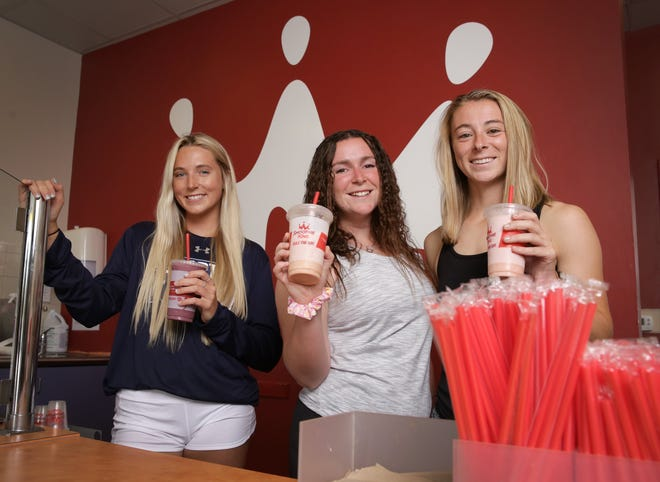 University of North Florida beach volleyball player Callie Workman, and Jacksonville University soccer players Courtney Green and Julianne Hutchison are among a dozen First Coast college athletes who have Name, Image and Licensing agreements with area businesses such as Smoothie King.