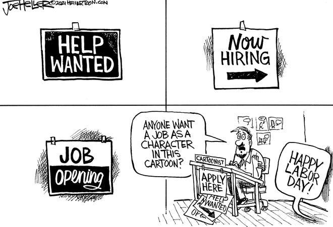 Happy Labor Day cartoon