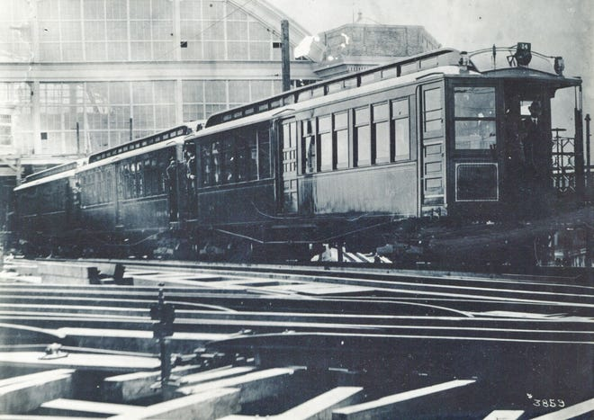 This train is at the Sullivan Square Terminal as seen in April 1901.
