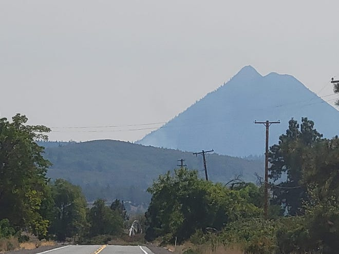 Firefighters were quick to respond to a quarter-acre vegetation fire near College of the Siskiyous on Tuesday, Aug. 31, 2021. Two people reported seeing smoke in the area. This photo was taken around 1 p.m. just north of the Stewart Springs exit, headed south on Old Highway 99.
