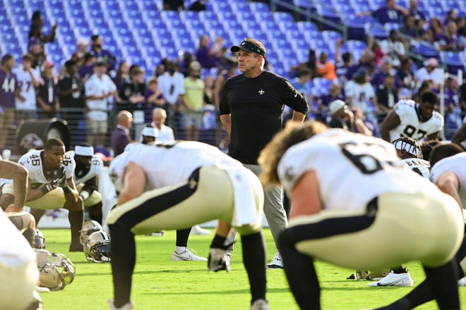 Due to devastation from Hurricane Ida, New Orleans Saints coach Sean Payton said his NFL team might start the season in Arlington, home of the Dallas Cowboys. The Saints open against the Green Bay Packers.