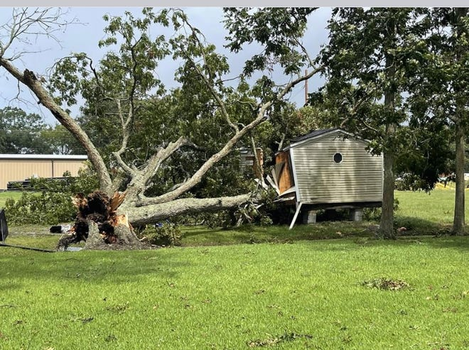 Numerous residential and commercial properties sustained considerable damage when Hurricane Ira brought hurricane-force gusts through Plaquemine.